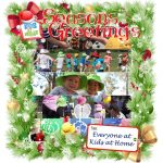 Seasons Greetings from Kids at Home