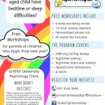 Griffith University FREE Parent Workshops